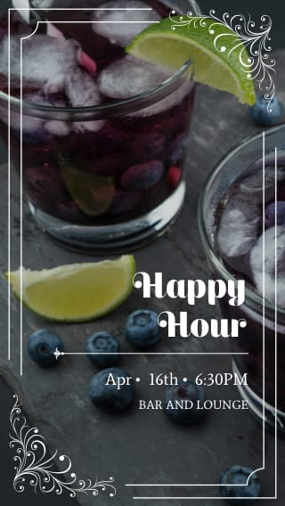 Text Message Invite Designs for Happy Hour Cocktails