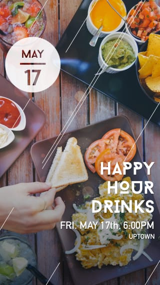 Text Message Invite Designs for Happy Hour Drinks