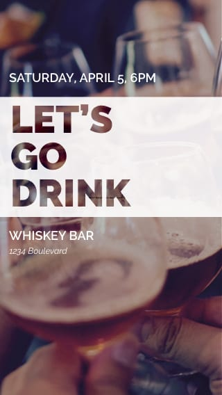 Text Message Invite Designs for Let's Go Drink