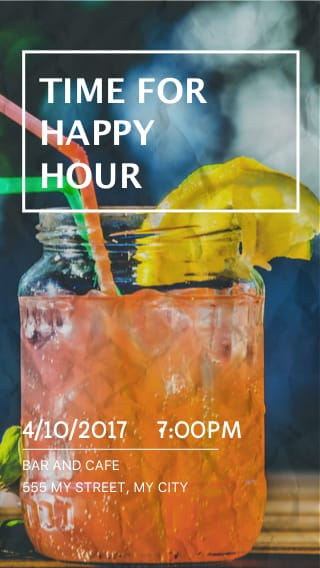 Text Message Invite Designs for Time for Happy Hour