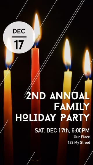 Text Message Invite Designs for Annual Family Holiday Party