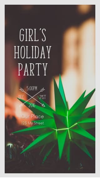 Text Message Invite Designs for Girls Holiday Partyy