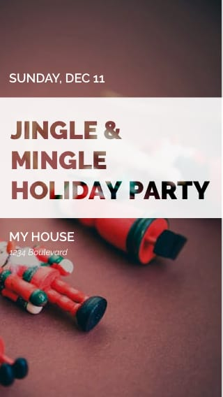 Text Message Invite Designs for Jingle Mingle Holiday Party