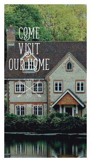 Text Message Invite Designs for Come Visit Our New Home