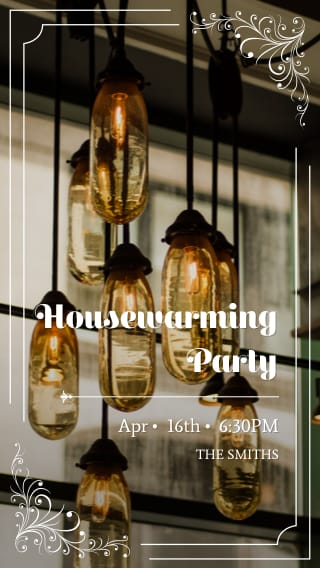 Text Message Invite Designs for Downtown Housewarming Party