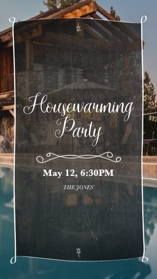 Text Message Invite Designs for Housewarming Pool Party