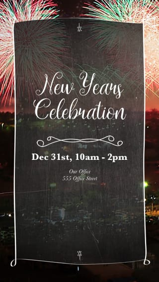 Text Message Invite Designs for New Year's Eve Celebration