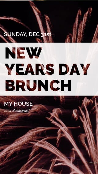text message invite designs for new years eve brunch