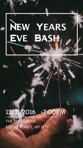 Text Message Invite Designs for New Year's Eve Bash