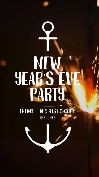 text message invite designs for new years eve party