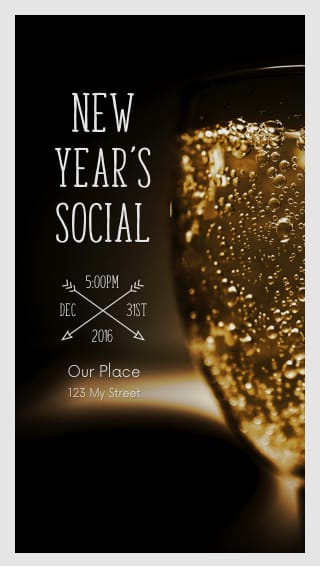text message invite designs for new years eve social