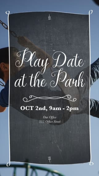 Text Message Invite Designs for Play Date at the Park
