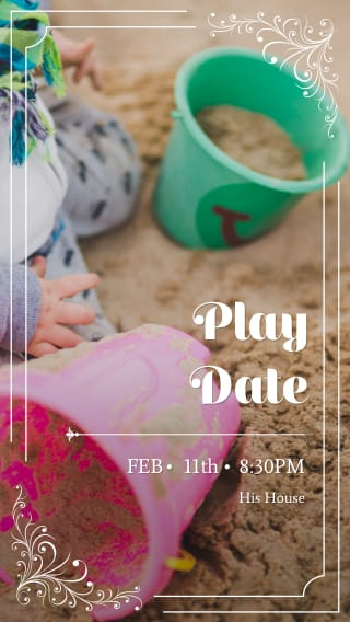 Text Message Invite Designs for Play Date Fun