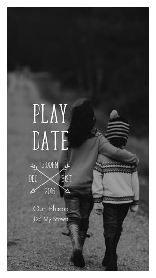 Text Message Invite Designs for Play Date in the Park