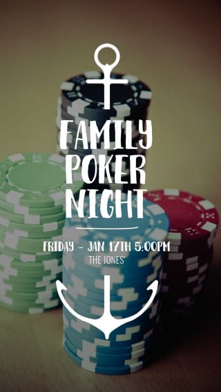 Text Message Invite Designs for Family Poker Night