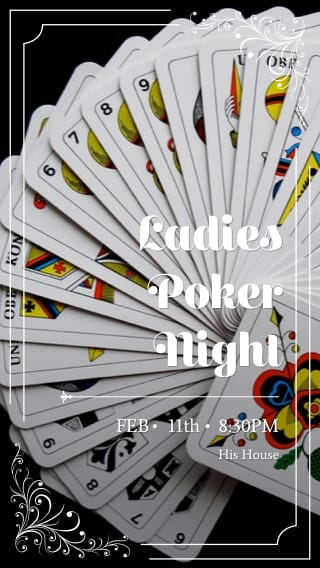 Text Message Invite Designs for Ladies Poker Night