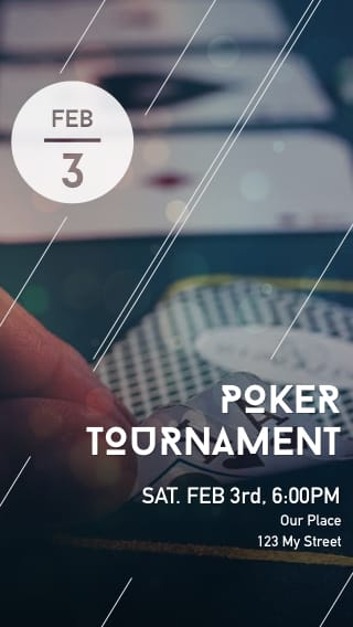 Text Message Invite Designs for Poker Tournament