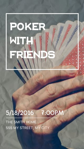 Text Message Invite Designs for Poker With Friends
