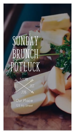 Text Message Invite Designs for Sunday Potluck Brunch