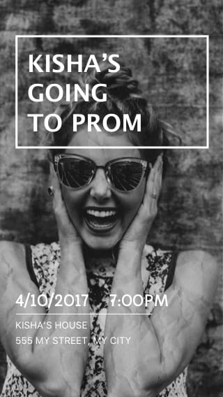 Text Message Invite Designs for Going to Prom