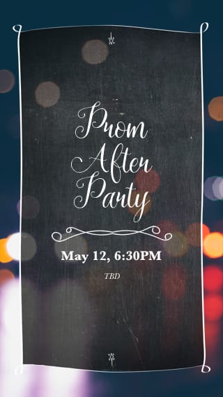 Text Message Invite Designs for Prom After Party