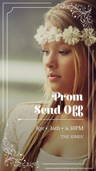 Text Message Invite Designs for Prom Night Send Off