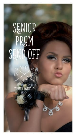 Text Message Invite Designs for Senior Prom Send Off
