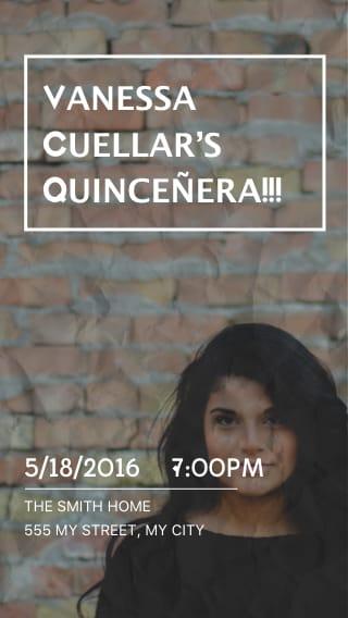 Text Message Invite Designs for Quinceañera Party