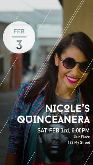 Text Message Invite Designs for Her Quinceañera