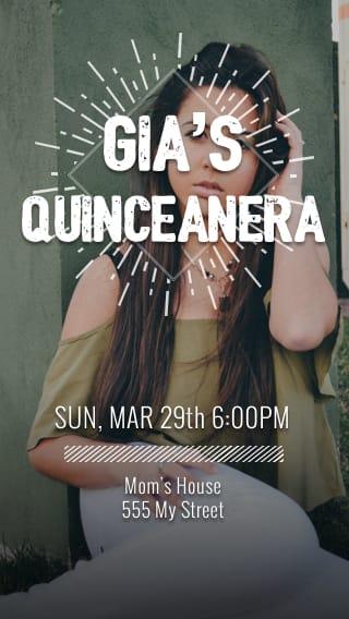 Text Message Invite Designs for The Big Quinceañera
