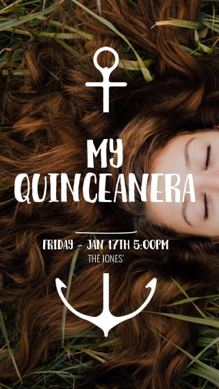 Text Message Invite Designs for Quinceañera Celebration
