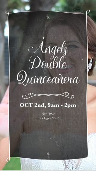Text Message Invite Designs for Quinceañera Dance