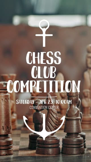 Text Message Invite Designs for Chess Club School Competition