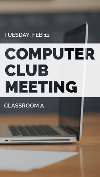 Text Message Invite Designs for Computer Club Meeting