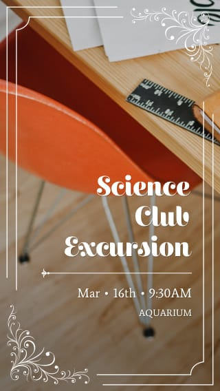 Text Message Invite Designs for School Science Club Meeting