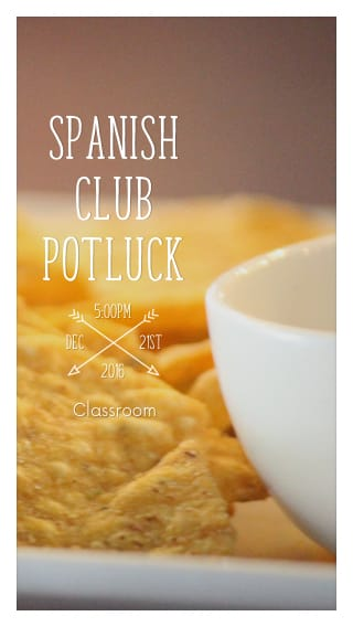 Text Message Invite Designs for Spanish Club Meeting
