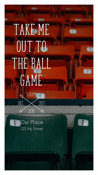Text Message Invite Designs for Baseball Games