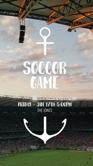 Text Message Invite Designs for Pick Up Soccer Games