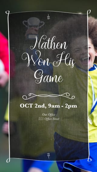 Text Message Invite Designs for Soccer Tournaments