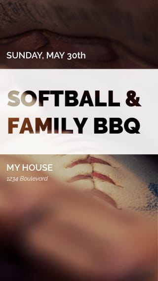 Text Message Invite Designs for Softball Pick Up Games
