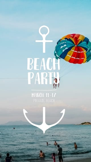 Text Message Invite Designs for Spring Break Beach Party