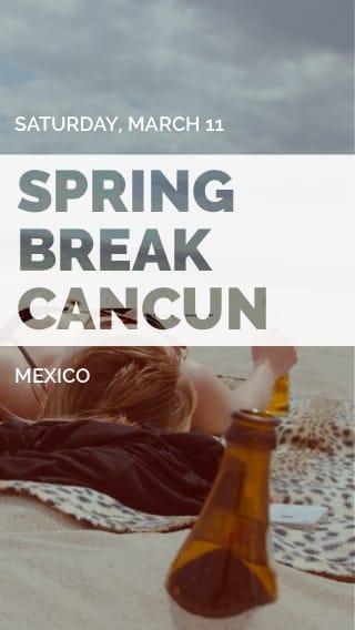 Text Message Invite Designs for Spring Break Cancun