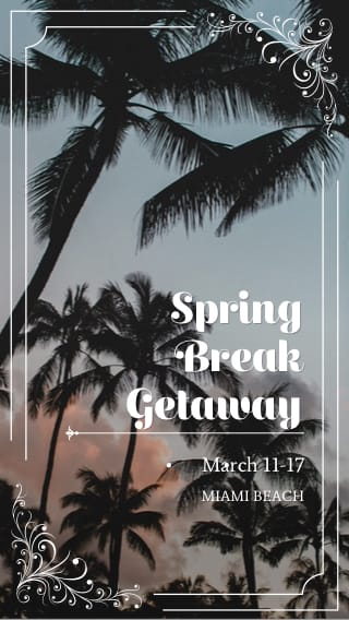 Text Message Invite Designs for Spring Break Getaway