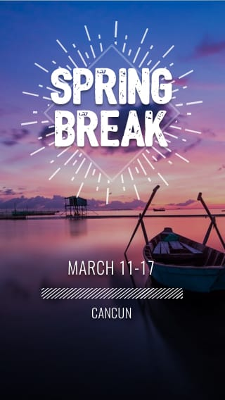 Text Message Invite Designs for Spring Break Lake Weekend