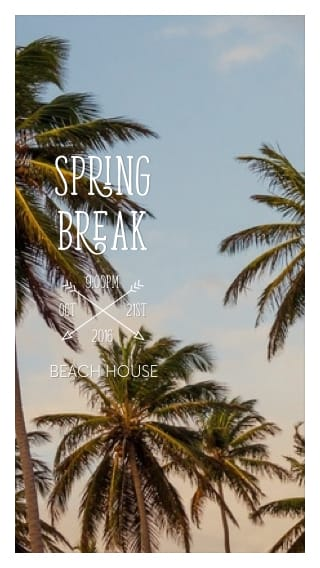 Text Message Invite Designs for Spring Break On the Beach