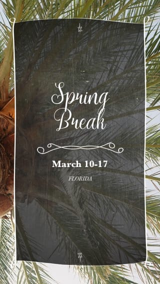 Text Message Invite Designs for Spring Break Party in the Park