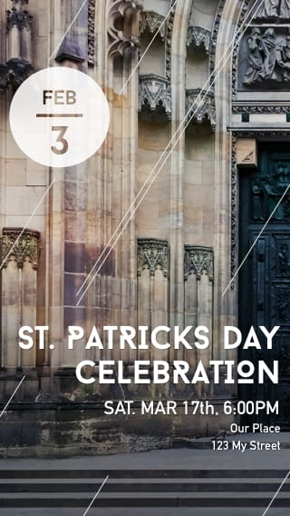 Text Message Invite Designs for St. Patrick's Day Celebration