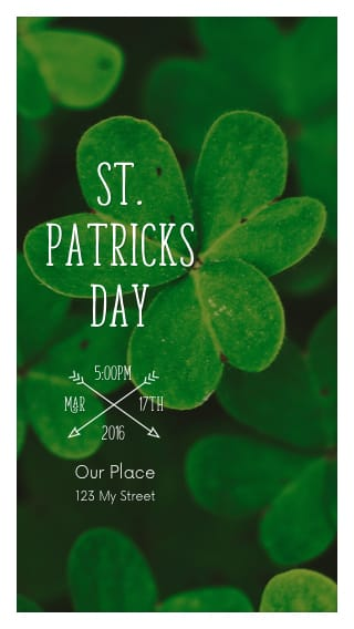 free text message invitations for st patrick s day events