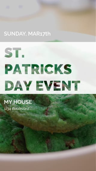 Text Message Invite Designs for St. Patrick's Day Bake-off