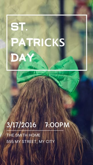 Text Message Invite Designs for Saint Patty's Day